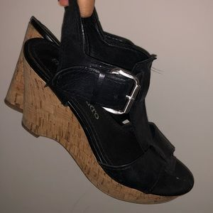 Franco Sarto Ankle Buckle Strap Wedges